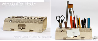 Wooden Pen Holder from WoodFlex Series by Antoine Tesquier Tedeschi | by Hu2 Design & Art