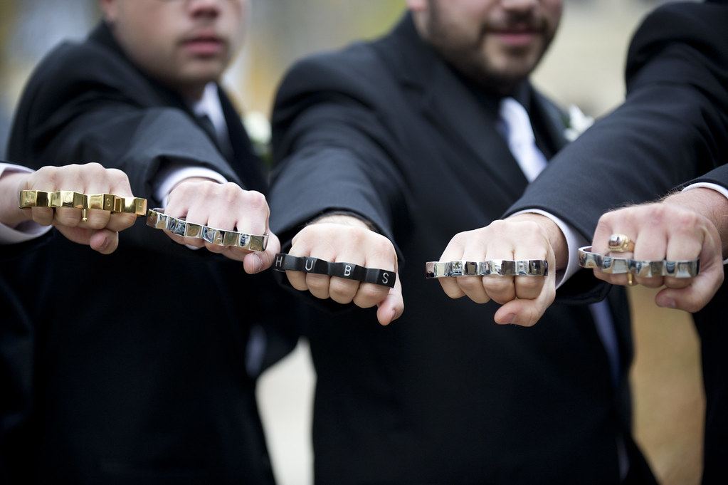 Wedding Party Gift Ideas Groomsmen: Jon Bought His Guys Brass Knuckles With