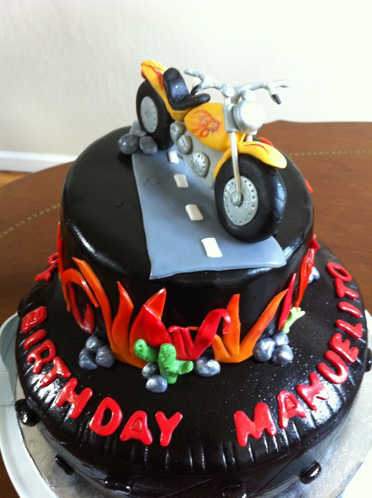 Motorcycle Birthday Cake Eardon Flickr
