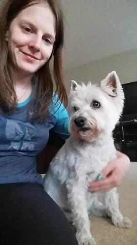 Daisy and I Westie Selfie
