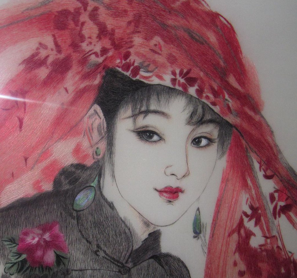 Chinese suzhou embroidery art bride this is a very