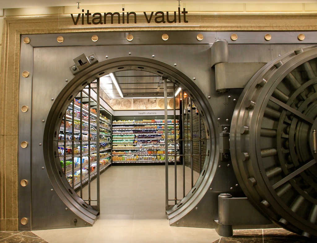 Vitamin Vault Entrance Detail of New Bucktown Walgreens