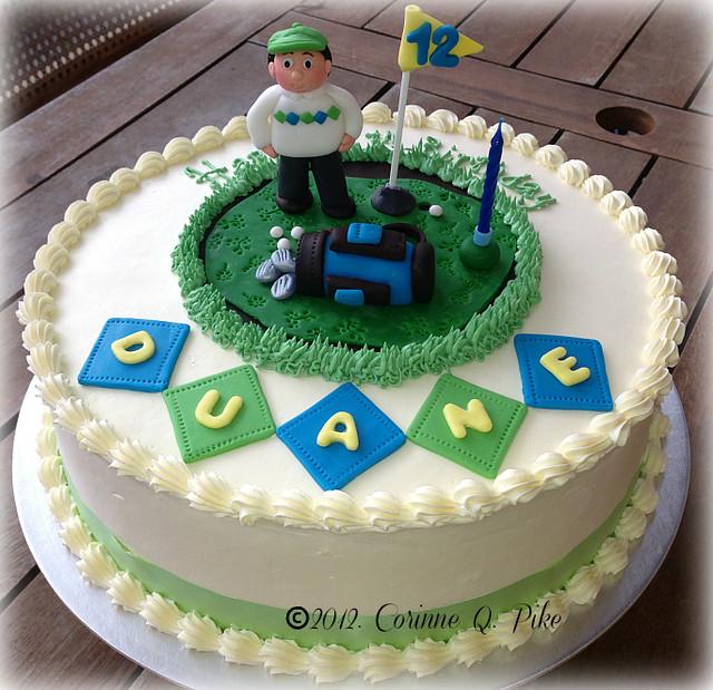 Golf-themed birthday cake  Flickr - Photo Sharing!