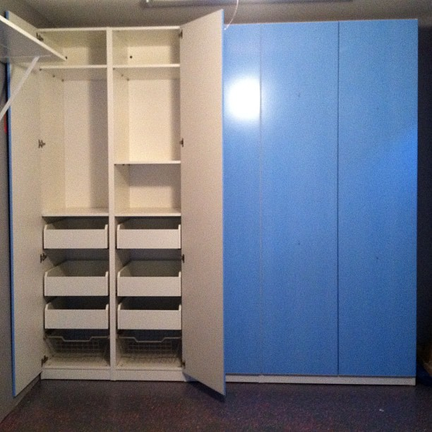 pax system for ikea great for storage in your garage in flickr. Black Bedroom Furniture Sets. Home Design Ideas
