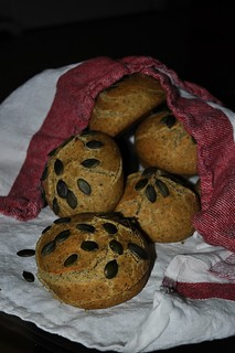 Bread Baking Day #54 - Overnight Pumpkin Seed Rolls | by - Caillean -