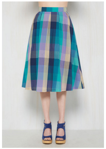 modcloth plaid skirt