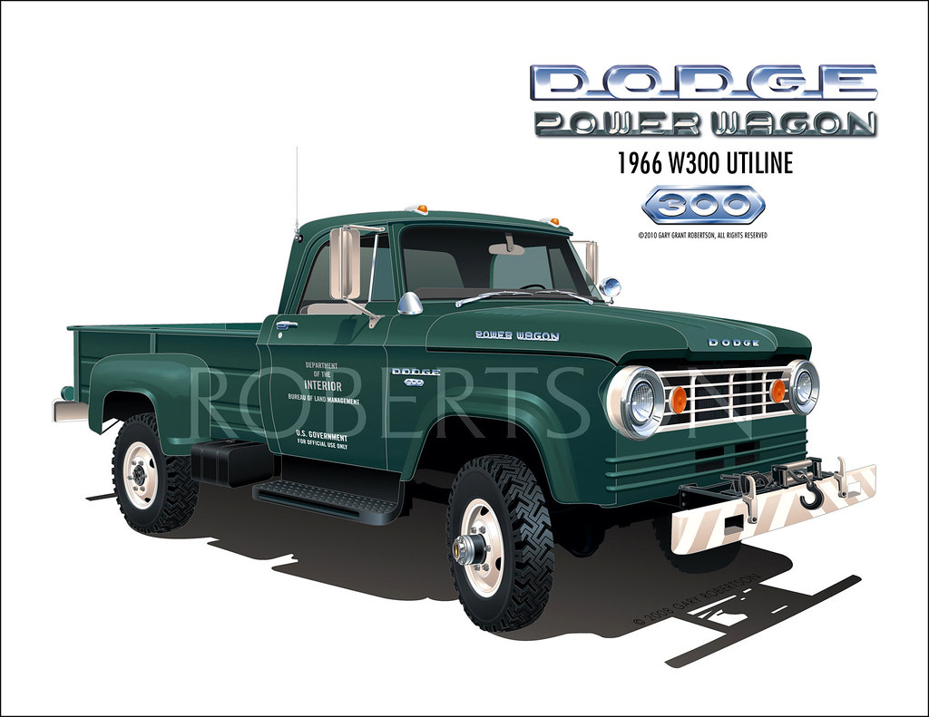 1966 W300 Dodge Power Wagon Blm Truck