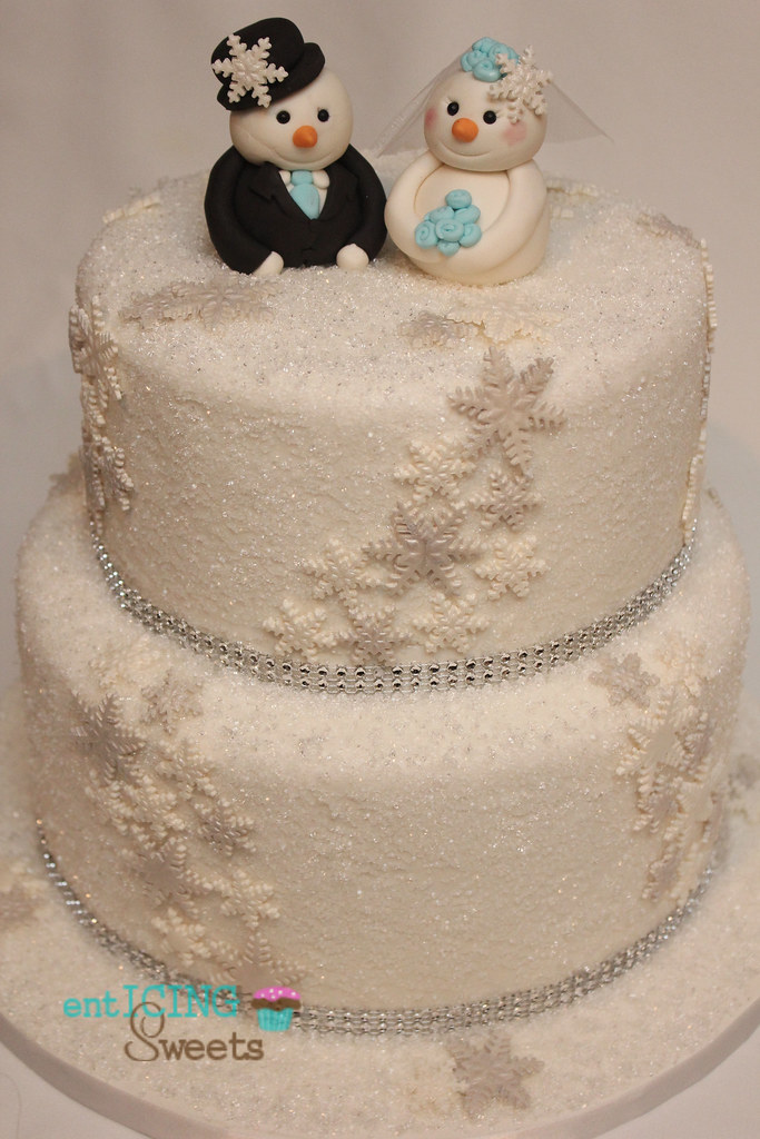 winter wonderland bridal shower cake by enticing sweets