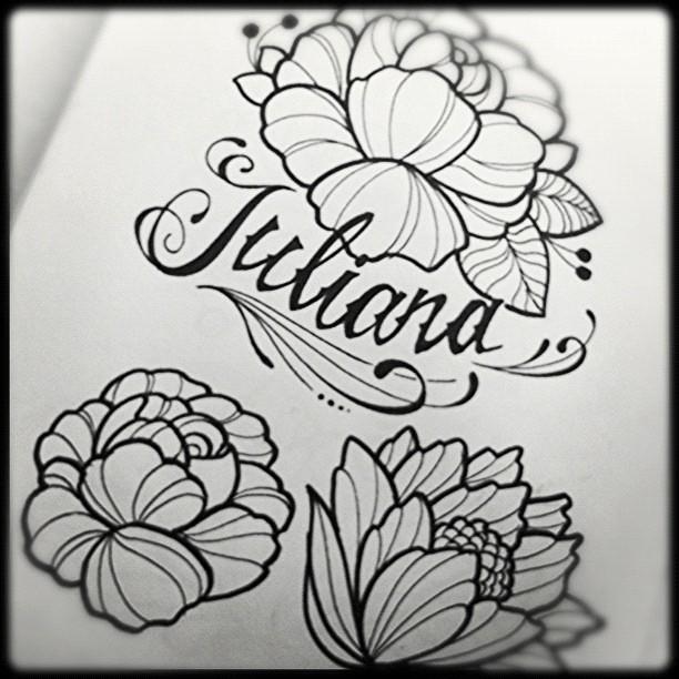 Dise 241 O Caligraf 237 A Con Flores Design Dise 241 O Ta2 Tatt
