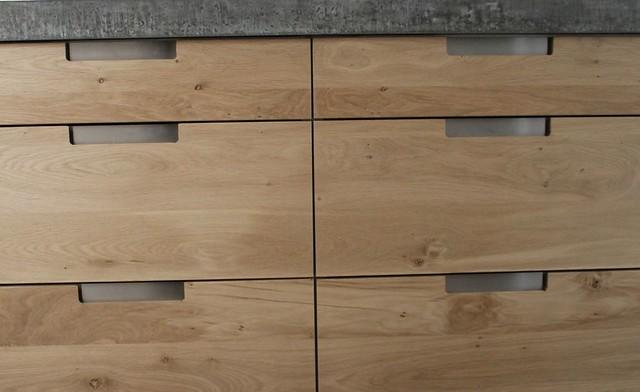 Houten Keuken Met Betonnen Blad : Koak Design Massief eiken houten keuken met ikea keuken kasten door