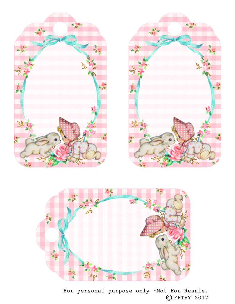Free Vintage Baby Girl Tags by FPTFY | Keren Dukes | Flickr
