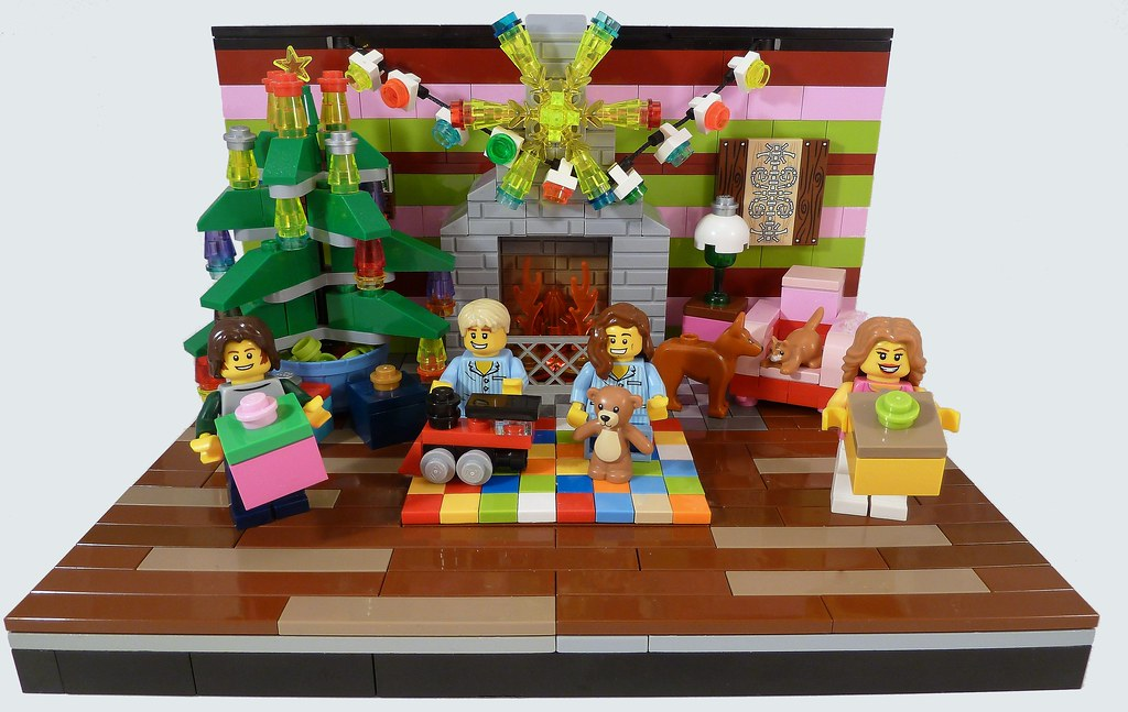 Merry Christmas From Us All (Lego Christmas Card 2) | Flickr