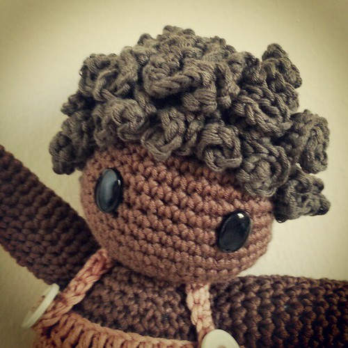 Amigurumi Curly Hair Tutorial : Amigurumi doll hair tutorial #amigurumiscrochet #amigurumi ...