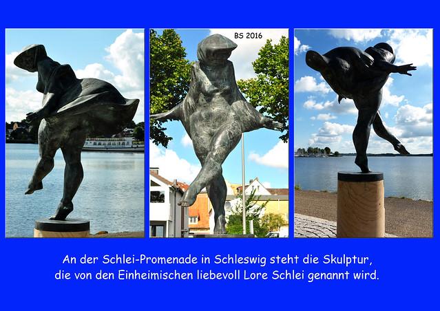 Schleswig Ostseefjord Schlei - Schlei-Promenade - Skulptur Die Badende - Lore Schlei - Fotos: Brigitte Stolle, September 2016