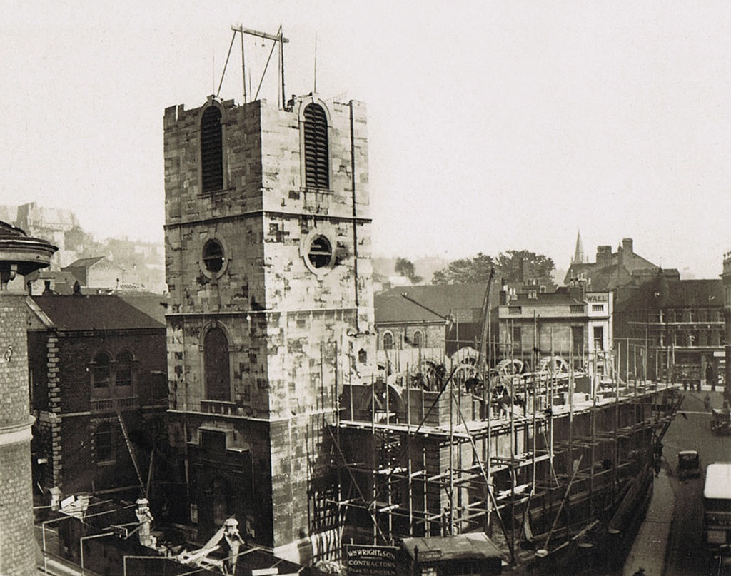 St Peter At Arches Lincoln Demolishing 1932 Revivalheritag