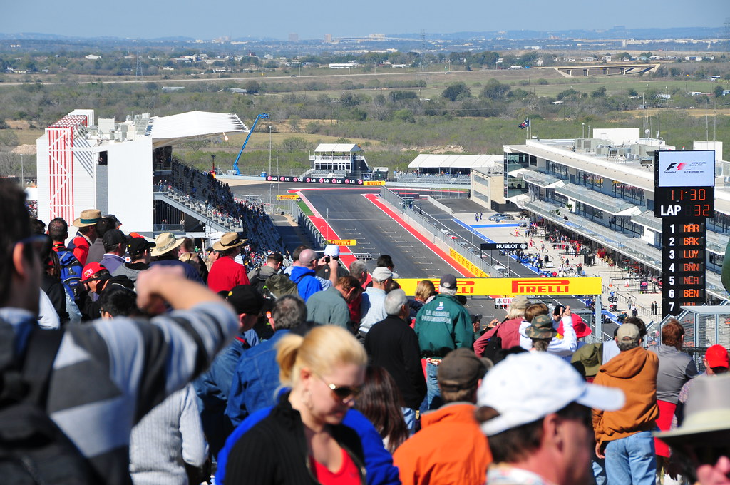General Admission Overlooking Grid Austin F1 Us Grand
