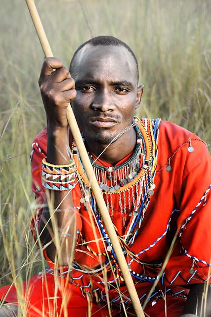 Masai Warrior Portrait...