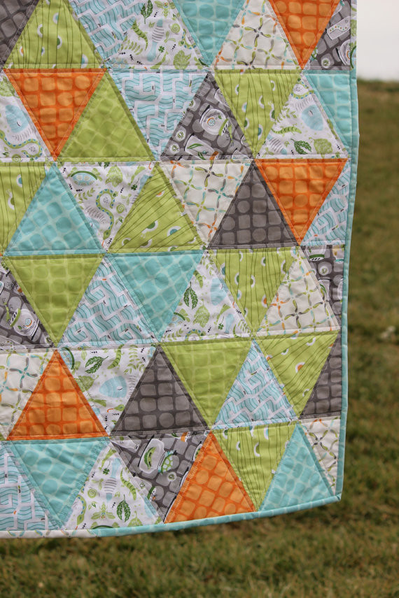 Backyard Baby | Triangle quilt | Ann M | Flickr