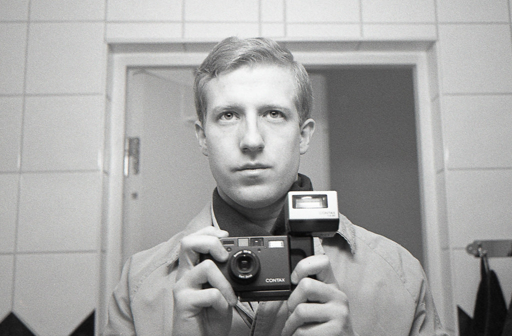 Contax T3 Self Portrait | Black Contax T3 with a SA-2 and ...