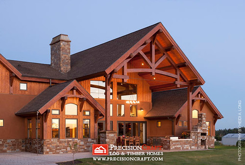 Custom timber home located in arizona precisioncraft tim Home by home