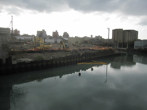 2012 27 October_view of Gowanus Whole Foods site and residues of strange white plume identified in prior week_pic by Eymund | by Proteus Gowanus