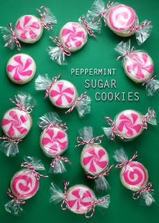 Peppermint Sugar Cookies | by Bakerella