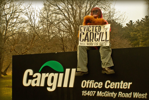Orangutans invade Cargill's hometown | by Rainforest Action Network