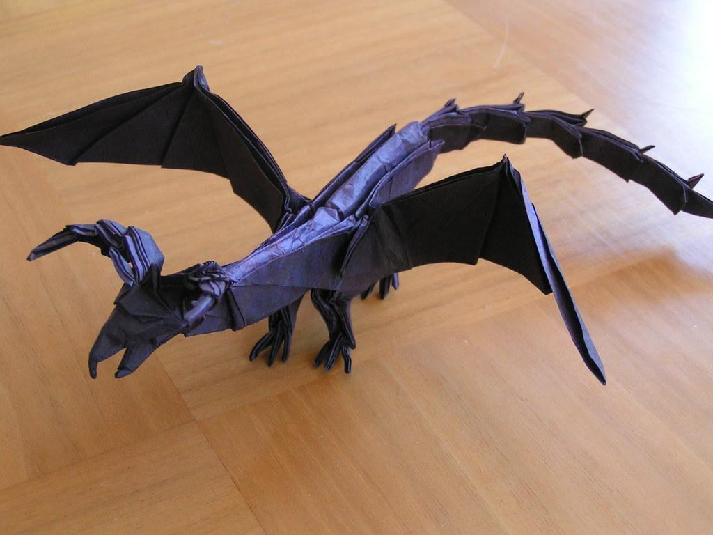 Origami Darkness Dragon | Origami Darkness dragon Designed ... - photo#36