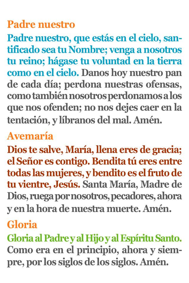 Padrenuestro, Avemaria, Gloria - 265.1KB