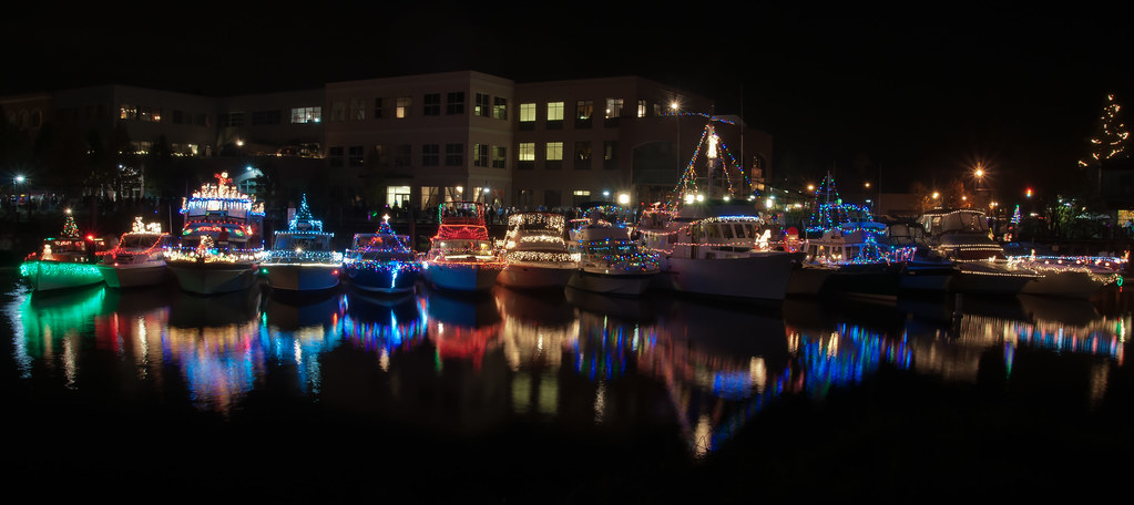 ... Boats and Christmas Lights   by michael'sphotography - Boats And Christmas Lights Petaluma Turning Basin With All… Flickr