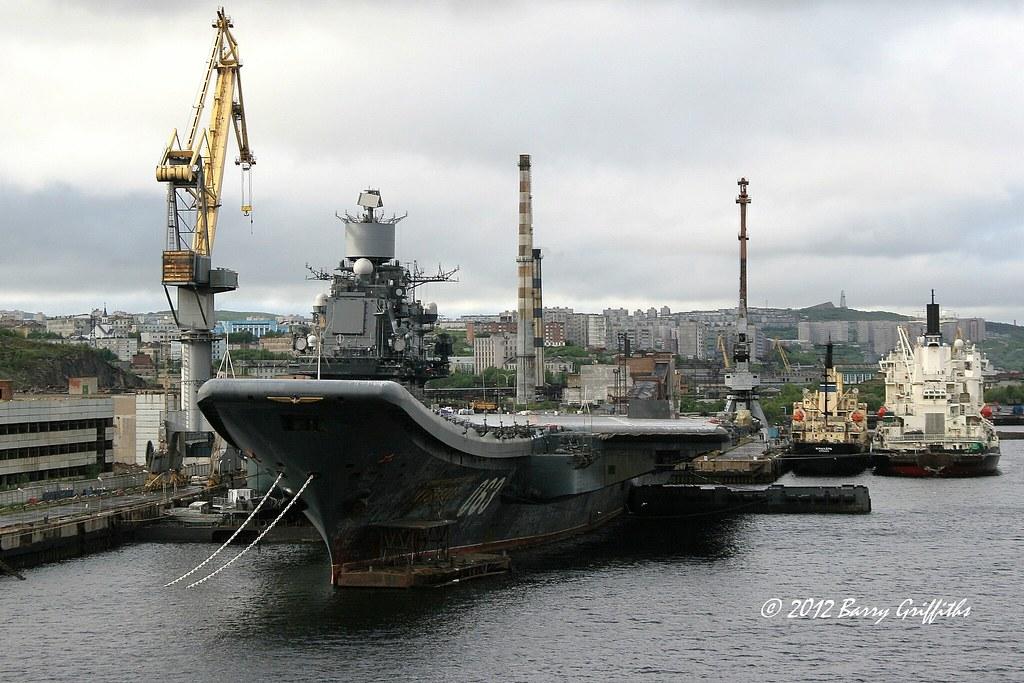 russian navy admiral kuznetsov  cv 063  under refit   murm u2026