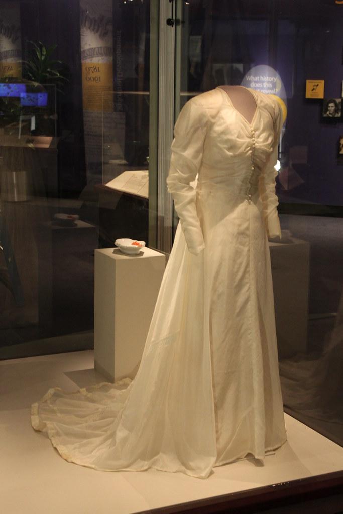 1945 wedding dress made from a parachute