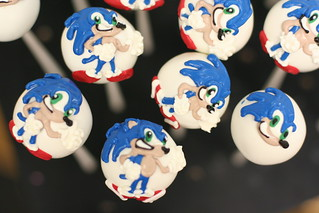 Sonic the Hedgehog Custom Cake Pops | by Sweet Lauren Cakes