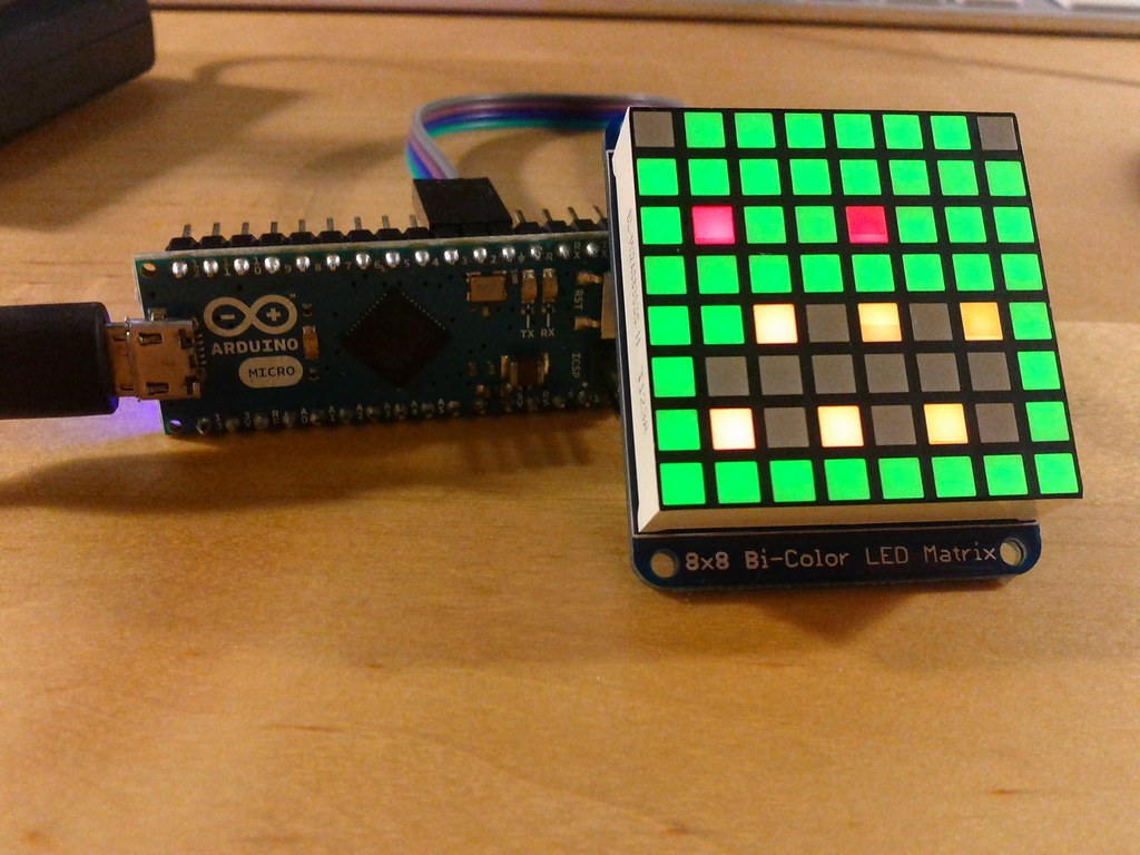 32x64 RGB LED matrix not working with library - Index