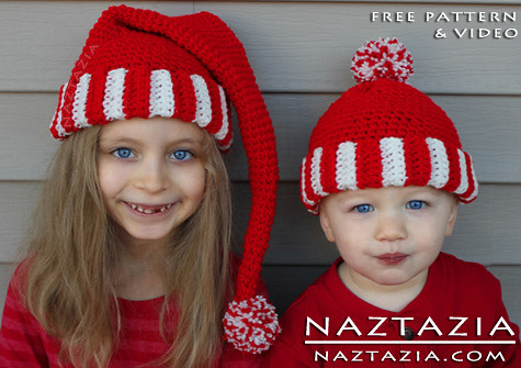 Free Crochet Pattern Video Santa Hat Elf Pixie Hat Flickr