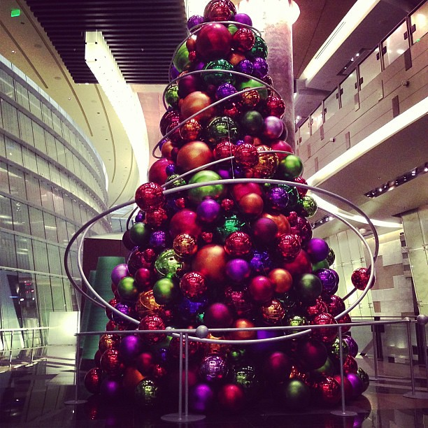 Christmas Tree Made From Balls