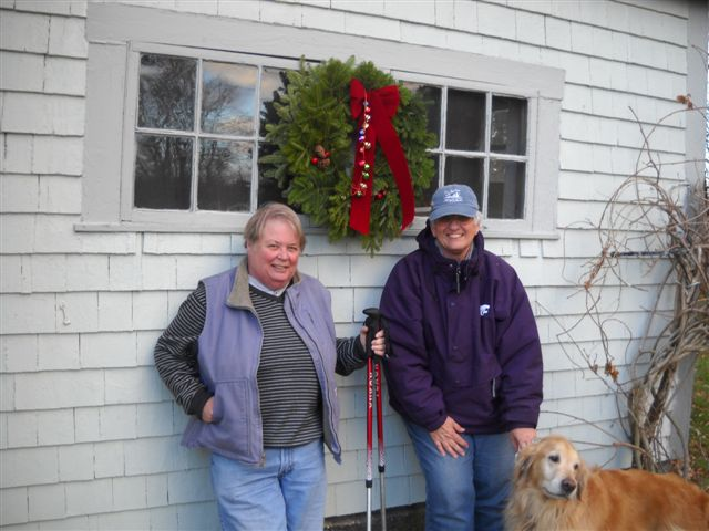 The wreath that Jim and Jill sent  Here we are with the