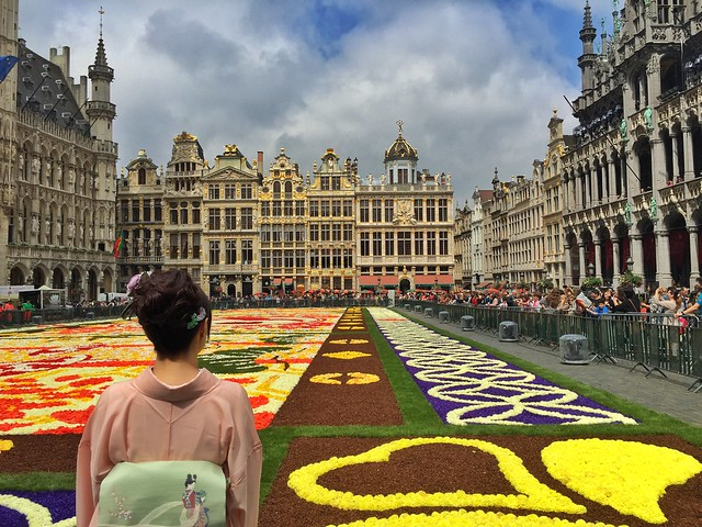 Suzuki en la Alfombra Floral de la Grand Place de Bruselas 2016