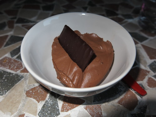 Mousse au chocolat (Dessert bei französischem Menue)