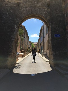 Dramatic archway in Châteauneuf-du-Pape | by Kate Wirth