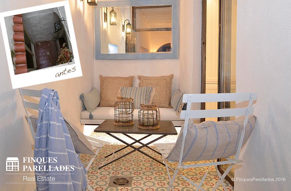 Rehabilitación, reforma y decoración de casa de pescadores en Sitges