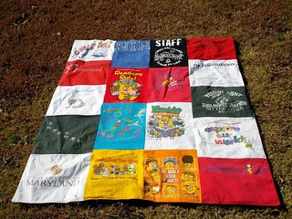 T-shirt quilt (my side) | by mihertz