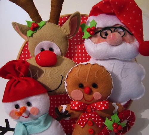 Artesanato Tecido Franzido ~ É o Natal a chegar Work in progress FR C'est N u2026 Flickr
