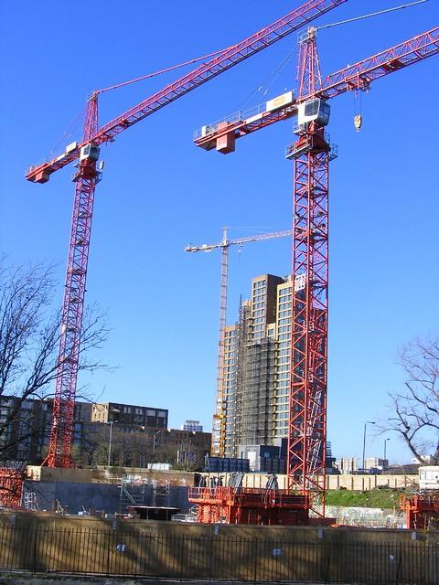 Tower Crane School : Tower crane coventry cross east development site london