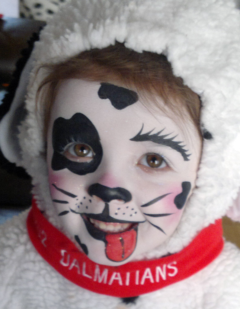 Dalmatian Face Painting