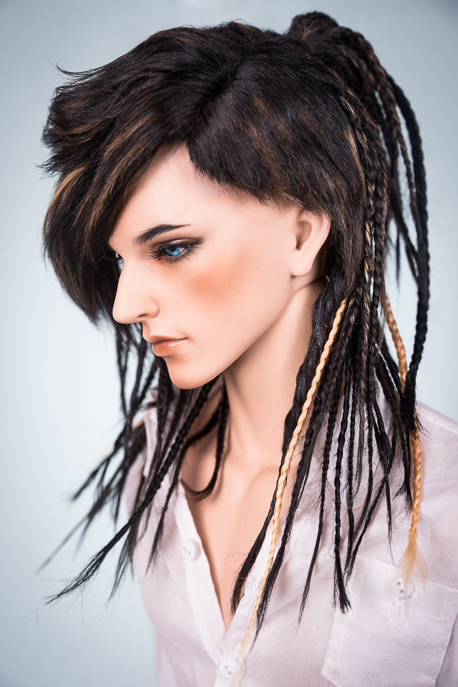 Kai A Trendy Haircut With Braids And Side Bangs In Two Col Flickr