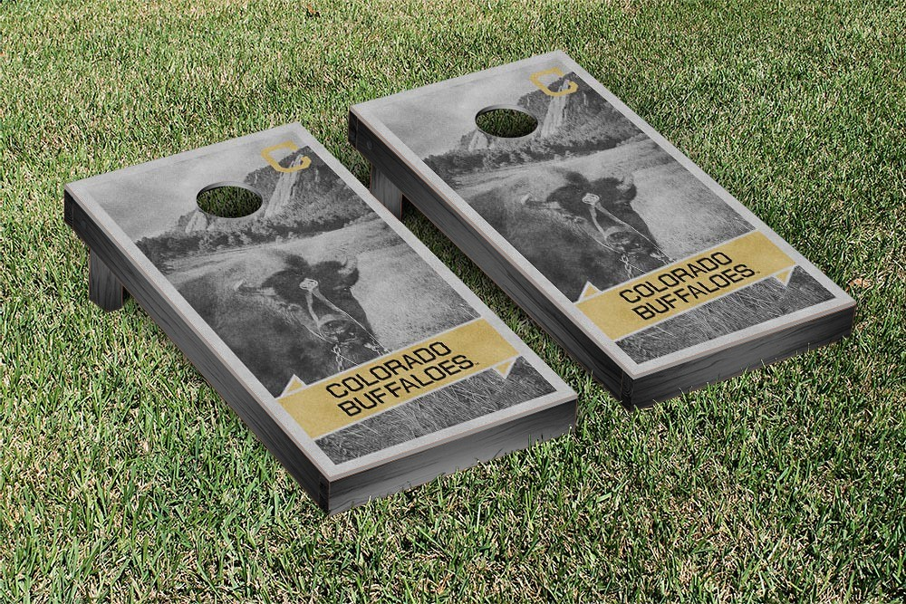 Colorado Buffaloes College Vault Cornhole Game Retro Version