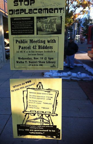 Bus stop protest fliers | by In Shaw