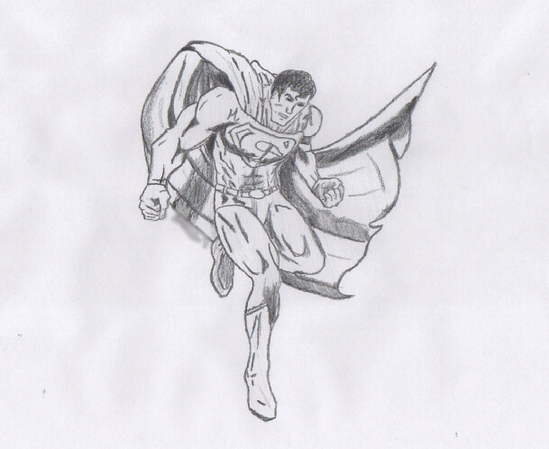 Superman Pencil Drawings Superman Pencil Sketch