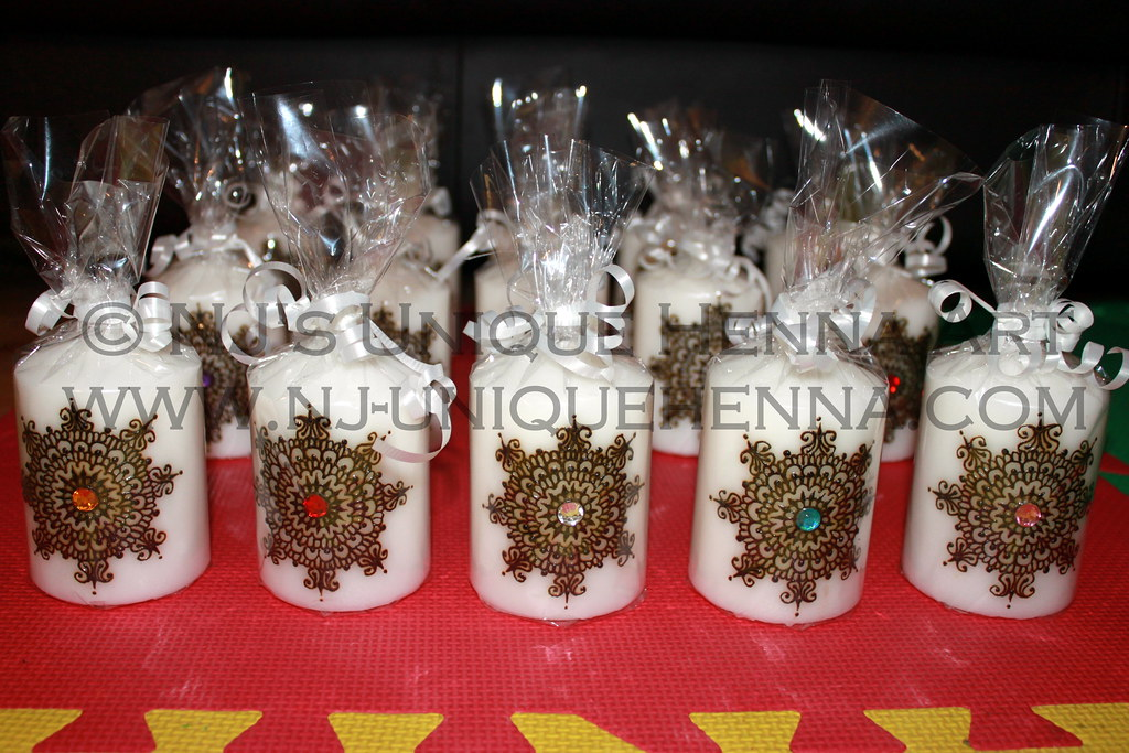 Mehndi For Candles : Henna candles party favors nj s unique art flickr